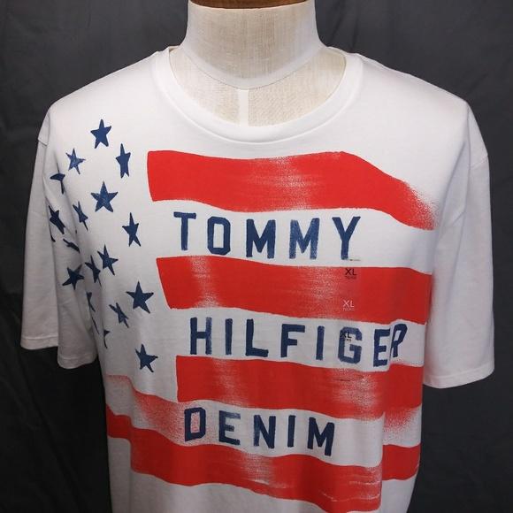 4f7b63b5e11a4 Tommy Hilfiger Denim USA Flag Graphic T-Shirt